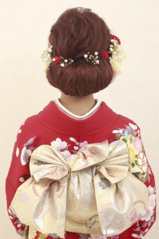 成人式におすすめ!大人かわいい低めアレンジヘア