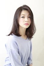 柔らかナチュラルストレートミディ|BiBi  千葉 梢のヘアスタイル