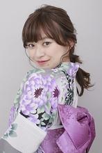 浴衣に似合う編みおろしアレンジ|BiBi のヘアスタイル