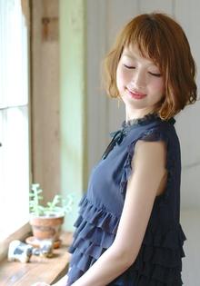 大人ボブ☆女性らしい柔らかなウェーブで小顔に Blume COSTAのヘアスタイル