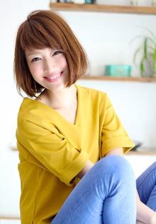 大人ボブ☆首元スッキリナチュラル女性 Blume COSTAのヘアスタイル