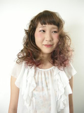 アレンジしても可愛い♪ビビッド×パフカラー|PACE hair make color 今福本店のヘアスタイル
