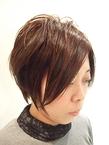 前下がりのクール系ショート|Buzz salon for hair   のヘアスタイル