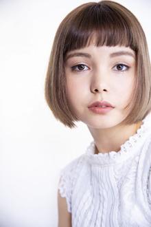 【肌艶スタイル】艶感で印象がピュアに傾くフォーギーベージュ|Beauty&Care CALON 銀座のヘアスタイル