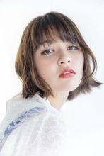 【シンプルなボブ】フレンチシックに歳を重ねるピュアなスタイル|Beauty&Care CALON 銀座のヘアスタイル
