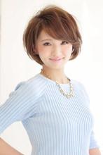 ひし形フォルムが可愛いレイヤーボブ|CARE KOBE 藤田 光のヘアスタイル