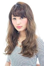無造作Aラインロング|CARE KOBE 藤田 光のヘアスタイル