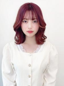 ベリーベリーピンク☆韓国スタイル|CARE KOBEのヘアスタイル
