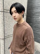 韓国風 センターパートマッシュウルフ|CARE KOBEのヘアスタイル