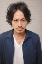 【CARE】黒髪パーマミディアム|CARE SHINSAIBASHIのヘアスタイル