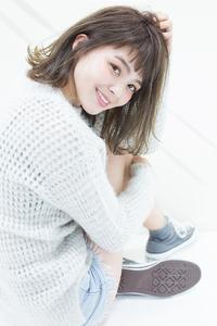 【CARE】うぶバングが可愛い☆カジュアルモード☆ミルクティカラー