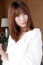 ハニーベージュで叶えるなめらかな大人可愛いツヤカラー|CARE SHINSAIBASHI 宮崎 隆和のヘアスタイル