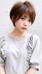 大人可愛いシースルーショート|CARE SHINSAIBASHI 松村 祐介のヘアスタイル