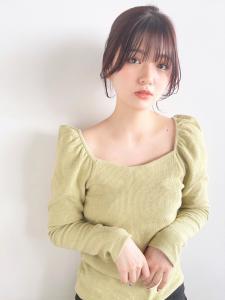 韓国レイヤー おくれ毛 顔まわりカット CARE UMEDAのヘアスタイル