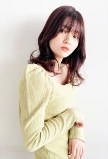 韓国レイヤー くびれ巻き 顔まわりカット CARE UMEDAのヘアスタイル