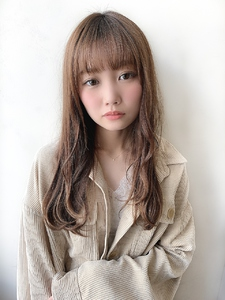 #シアーベージュ #ナチュラルシースルー|CHANDEUR 栄 【個室型サロン】のヘアスタイル