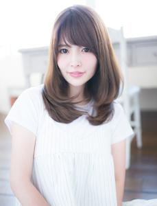 ミディアムワンカールボブ|CHANDEUR 栄 【個室型サロン】のヘアスタイル