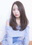エアリー感の艶髪ワンカールセミロング
