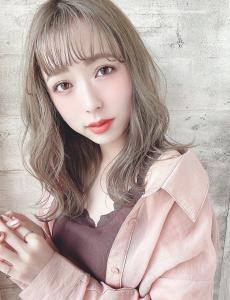 透明感たっぷり外国人風カラー|CHANDEUR 栄 【個室型サロン】のヘアスタイル