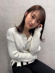 ストレートbang×ショコラカラー|CHANDEUR 栄 【個室型サロン】のヘアスタイル