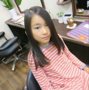 綺麗な髪のかわいい女の子のカット!|Cut wa Coconi (交野市美容室・美容院)のヘアスタイル