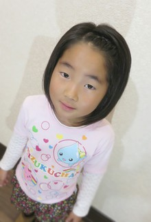 かわいいお子様に、ボブしました〜|Cut wa Coconi (交野市美容室・美容院)のヘアスタイル