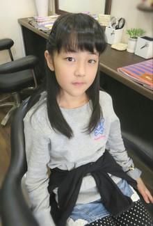 かわいいお子様に、カットとサイド編みこみしました〜|Cut wa Coconi (交野市美容室・美容院)のヘアスタイル