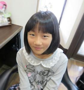 かわいいお子様の肩上のボブスタイルです!|Cut wa Coconi (交野市美容室・美容院)のヘアスタイル