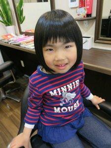 かわいいお子様のボブスタイルです!|Cut wa Coconi (交野市美容室・美容院)のヘアスタイル