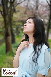 「写真展」あまんの恋 ファースト ラブは、妙見河原にて、曾田彩乃さんに参加して頂きました。|Cut wa Coconi (交野市美容室・美容院)のヘアスタイル