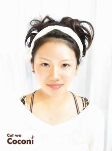 肩上ボブスタイルを、アップスタイルにセット!|Cut wa Coconi (交野市美容室・美容院)のヘアスタイル
