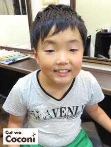カッコ!かわいい男の子のツーブロックスタイル!|Cut wa Coconi (交野市美容室・美容院)のヘアスタイル