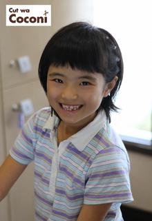 かわいいお子様カット!めっちゃ、笑顔でいい感じですね。|Cut wa Coconi (交野市美容室・美容院)のヘアスタイル