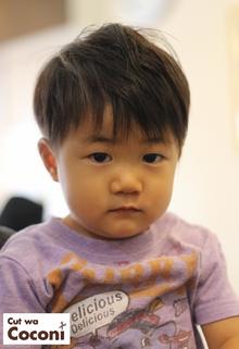 かわいいお子様カット!めっちゃ、かわいいツーブロックです。|Cut wa Coconi (交野市美容室・美容院)のヘアスタイル