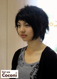 カッコかわいいスクールカットの女の子です!|Cut wa Coconi (交野市美容室・美容院)のヘアスタイル