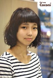 かわいいスクールパーマ〜秋は、パーマで学生さんもイメチェンですね!|Cut wa Coconi (交野市美容室・美容院)のヘアスタイル