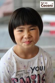 かわいいお子様カット!大胆なツーブロックにしましたよ。|Cut wa Coconi (交野市美容室・美容院)のヘアスタイル
