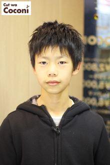 かわいいお子様カット!さわやかな少年ですね〜|Cut wa Coconi (交野市美容室・美容院)のヘアスタイル