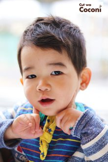 かわいいお子様カット!めっちゃ、かわいい男の子〜 Cut wa Coconi (交野市美容室・美容院)のヘアスタイル
