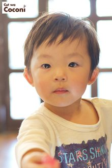 かわいいお子様カット!めっちゃ、かわいい男の子が、来てくれました〜|Cut wa Coconi (交野市美容室・美容院)のヘアスタイル
