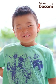 かわいいお子様カット〜笑顔が、めっちゃいい感じ!!!|Cut wa Coconi (交野市美容室・美容院)のヘアスタイル
