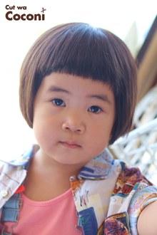かわいいお子様カット!おとなしくてかわいい女の子が、来てくれました〜!!!|Cut wa Coconi (交野市美容室・美容院)のヘアスタイル