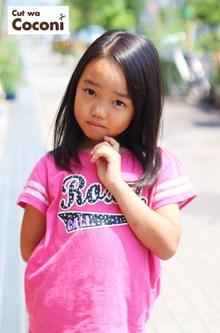 かわいいお子様カット!魅力的ないい子が、来てくれました〜|Cut wa Coconi (交野市美容室・美容院)のヘアスタイル