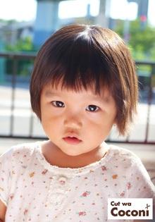 かわいいお子様カット!柔らかいカールした髪のかわいい子が来てくれました〜!!!|Cut wa Coconi (交野市美容室・美容院)のヘアスタイル