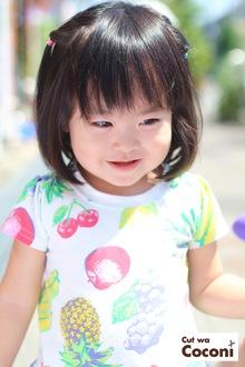 かわいいお子様カット!ちょっと、まだ人見知りだけど、かわいいよい子でした〜|Cut wa Coconi (交野市美容室・美容院)のヘアスタイル