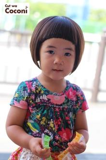 かわいいお子様カット〜前髪パッつんと!かわいい子ですね〜|Cut wa Coconi (交野市美容室・美容院)のヘアスタイル