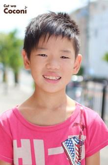 かわいいお子様カット!さわやかな男の子のアシメのヘアスタイル〜!!!|Cut wa Coconi (交野市美容室・美容院)のヘアスタイル