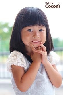 かわいいお子様カット!めっちゃ、かわいいポーズ〜|Cut wa Coconi (交野市美容室・美容院)のヘアスタイル