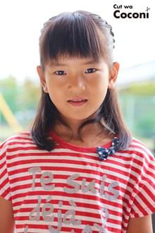 かわいいお子様カット!サイドのタイトロープでヘアアレンジ〜|Cut wa Coconi (交野市美容室・美容院)のヘアスタイル