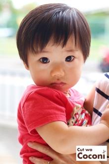 かわいいお子様カット!おとなしくいい子で、カットできました〜かっこよくなったね!|Cut wa Coconi (交野市美容室・美容院)のヘアスタイル